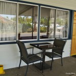 Seating outside Motel Rooms